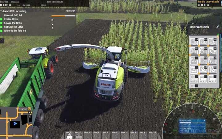 L'ouvrier se place sur le côté dès que le champ a été détouré.