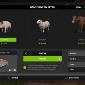 farming simulator 17 animaux