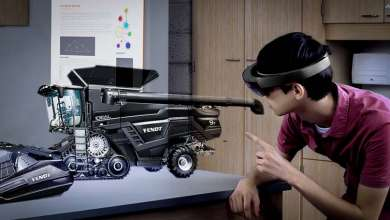 Photo de Un Hololens pour piloter une Fendt Ideal via le moteur de Farming Simulator