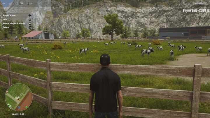 L'intégralité des animaux est représenté. On imagine la souffrance de la carte graphique si vous tentez de recréer la ferme des 1000 vaches.