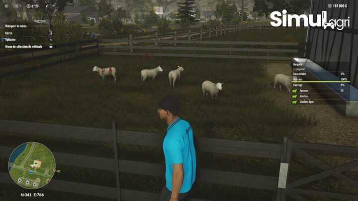 La carte Allemagne et son élevage de mouton.