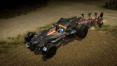 Photo of Une Batmobile dans Pure Farming en guise de tracteur ?