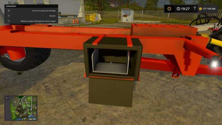 Boîte de rangement de rallonge de trappe.