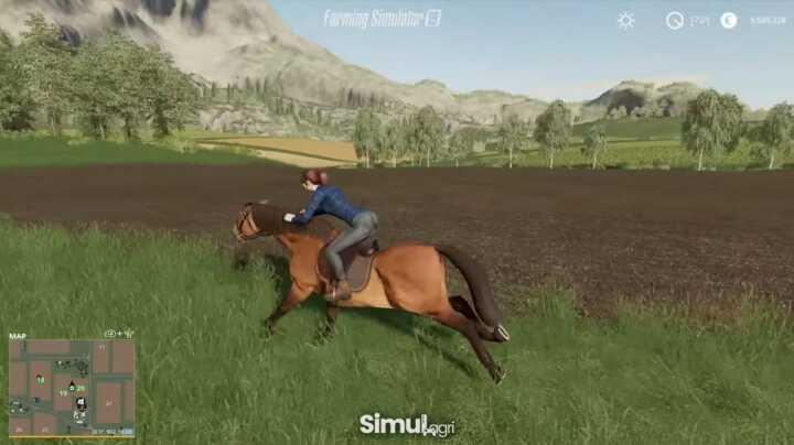 L'animation est stupéfiante avec l'impression de voir les muscles du cheval bouger.
