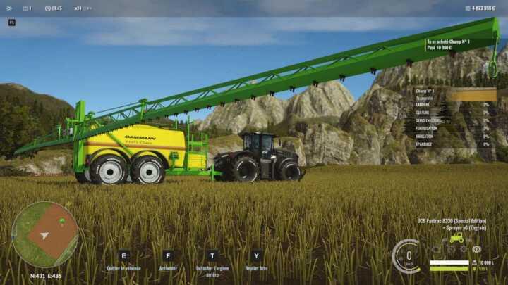 Ce pulvérisateur, déjà présent dans Cattle and Crops et Farming Simulator, devrait bientôt être publié. Il nous reste un bug sur la rotation des roues à corriger.