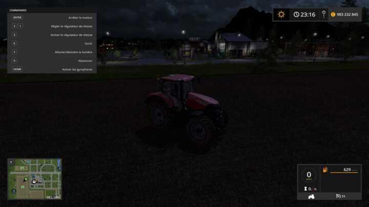 Ce filet de lumière permanent dans Farming Simulator 17 permet presque de travailler dans le noir.