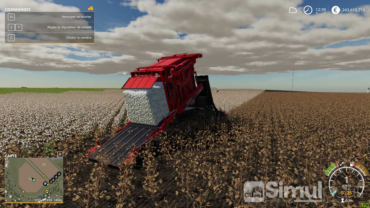 Le coton, une des nouvelles cultures de Farming Simulator 19.