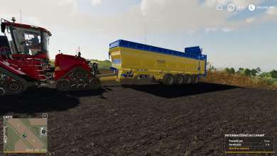 Photo of 50 tonnes de fumier avec l'épandeur Brochard sur Farming Simulator 19