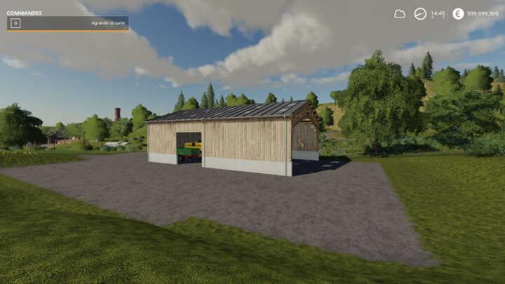 Avec le récent patch 1.2, le hangar peut être intégré où bon vous semble.