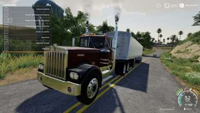 Photo of Les 650 CV du Kenworth W900A disponible sur Farming Simulator 19
