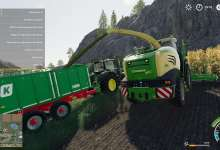 Photo de La Krone Big X 580 pour Farming Simulator 19 étoffe l'offre ensileuse
