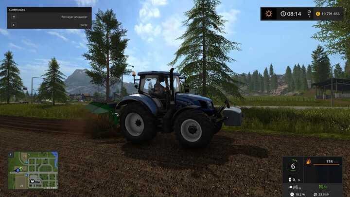 Le taux de patinage et la consommation instantanée, sous le compteur, donnent une bonne indication de l'effort du tracteur.