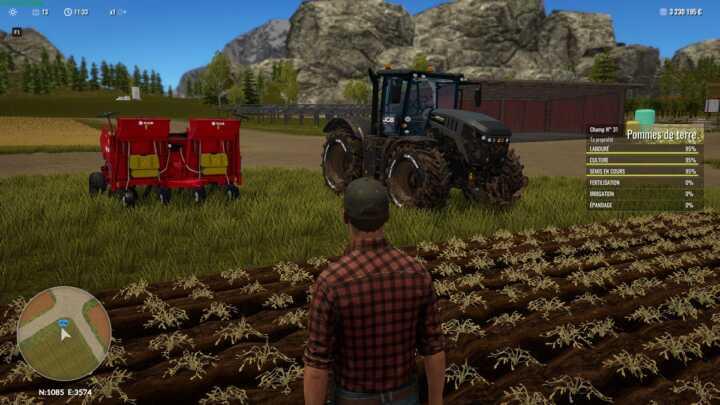 Point fort de cette amélioration : les ouvriers rangent le matériel, dételé, sur le côté du champ.