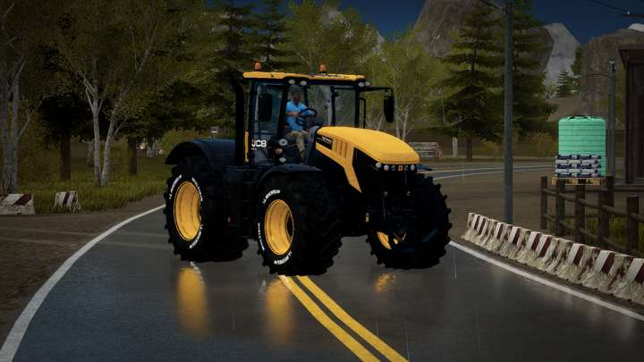 Sur Pure Farming, quand il pleut, ça se voit.