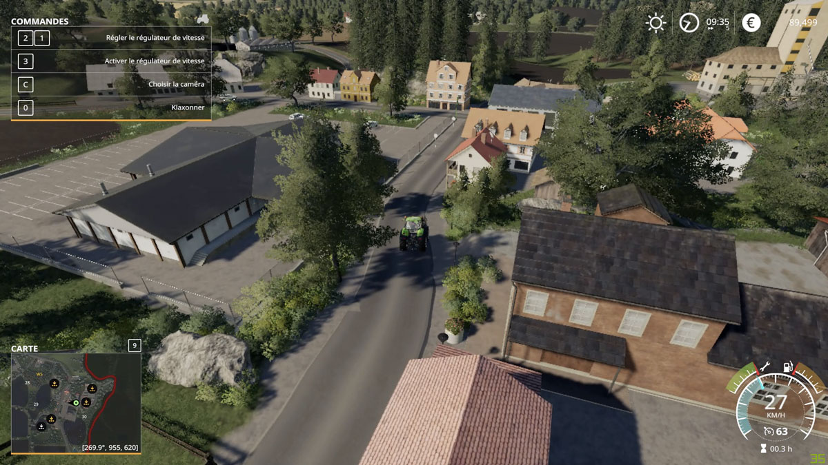 Upper Glantal, a small village in Germany reproduced on FS