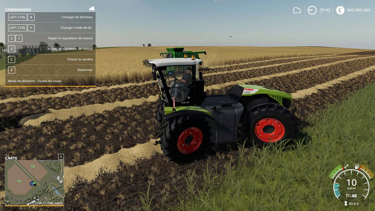 Claas Axion and Xerion convert to FS 19   SimulAgri fr
