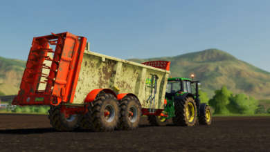 Photo of L'épandeur Leboulch 70D24 livré sans option pour Farming Simulator 19