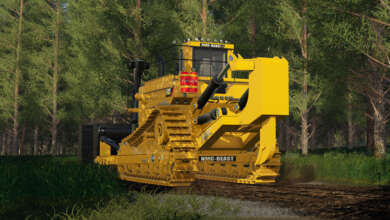 Photo de NMC D-11 Bulldozer : North Modding Company maquille le logo CAT