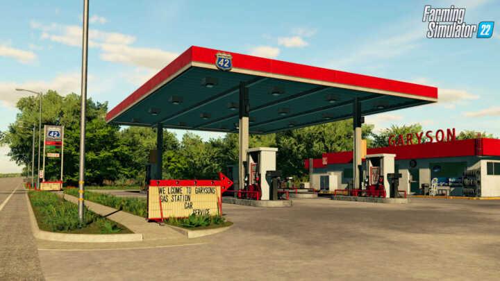 FS22 Elmcreek impression GasStation en