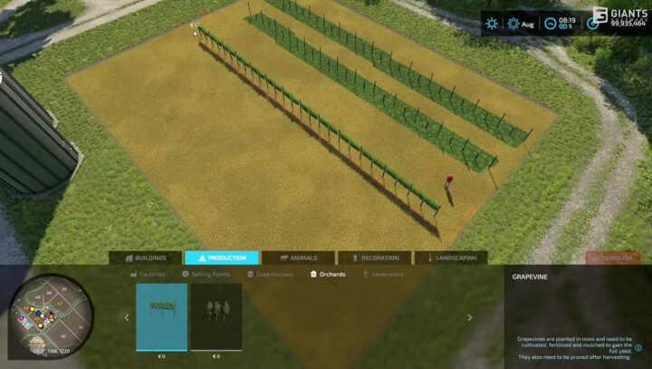 build mod vigne