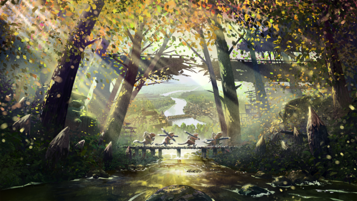Timberborn forest key art clean FHD